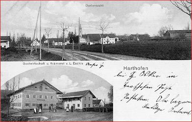 Postkarte Harthofen 1917